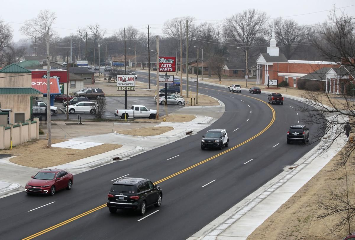 Jenks completes Main Street widening project Maine, Main