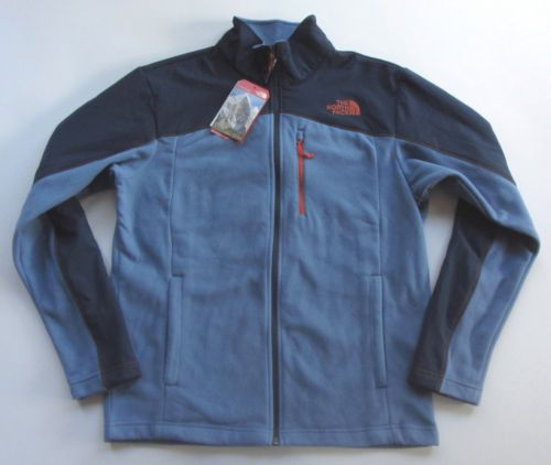 NEW NORTH FACE MENS GLACIER TRAIL JACKET LIGHTWEIGHT FLEECE FULL ZIP M MED BLUE