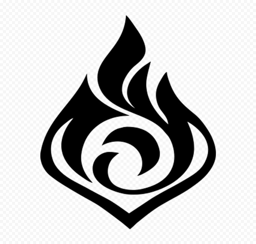 Hd Black Genshin Impact Game Logo Sign Symbol Png In 2021 Logo Sign Game Logo Symbols
