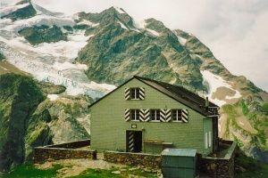 Gleckstein Hut on the Wetterhorn in Switzerland.
