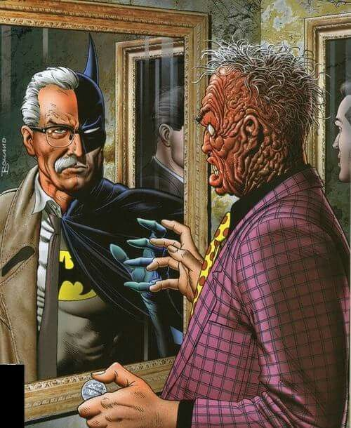 'Gotham faces' , made by: Brian Bolland , illustration