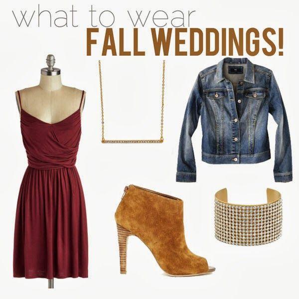 What To Wear: Fall Wedding Season!