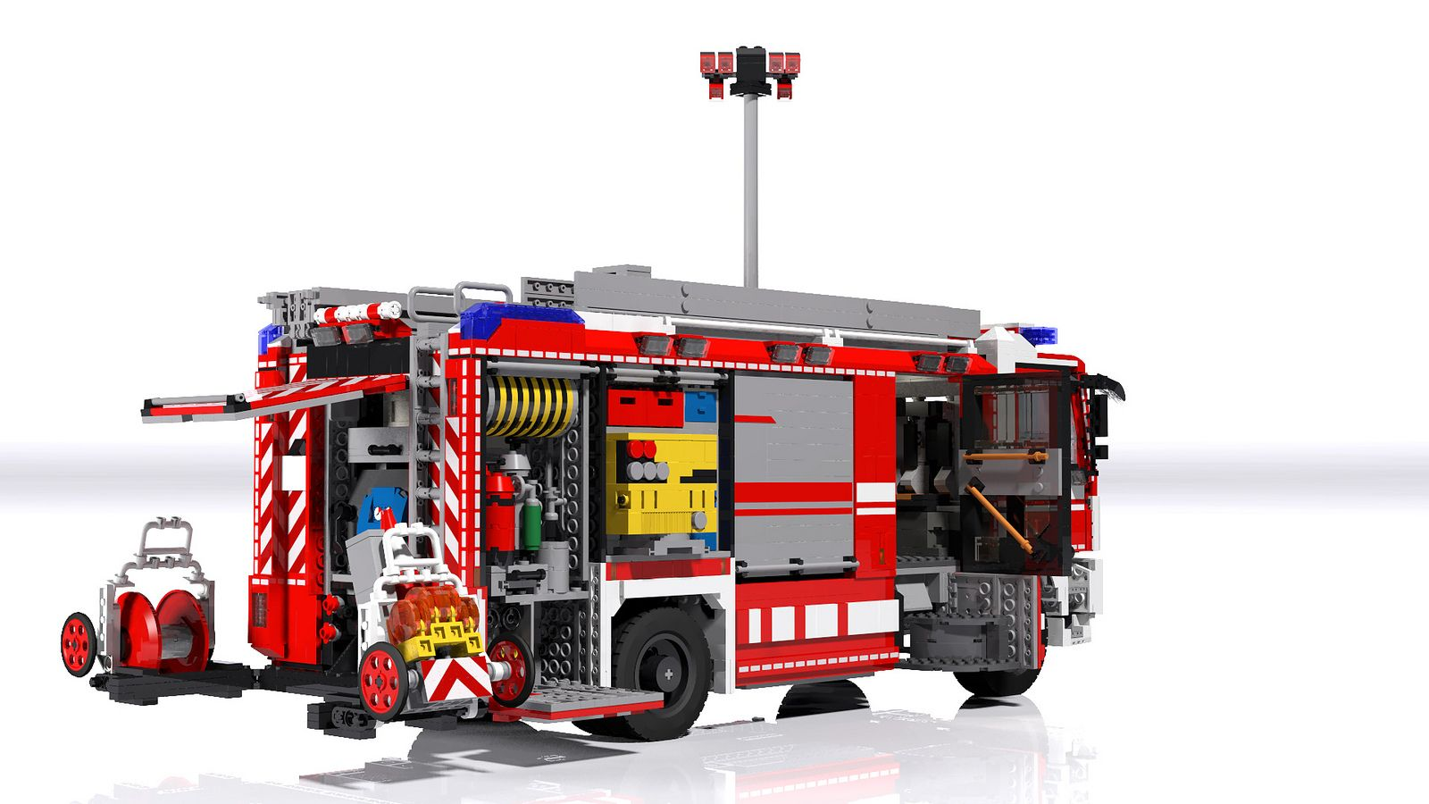 man rosenbauer hlf 20 rescue pumper rear lego. Black Bedroom Furniture Sets. Home Design Ideas