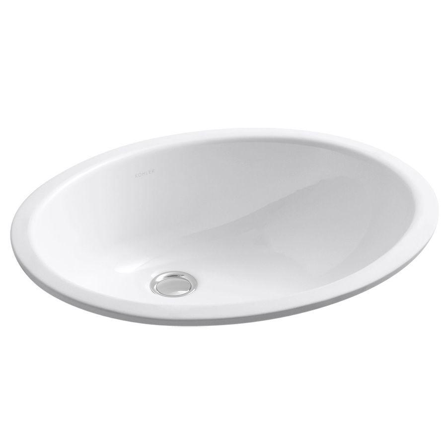 Kohler Caxton White Undermount Oval Bathroom Sink With Overflow Kohler Caxton Bathroom Sink Undermount Bathroom Sink