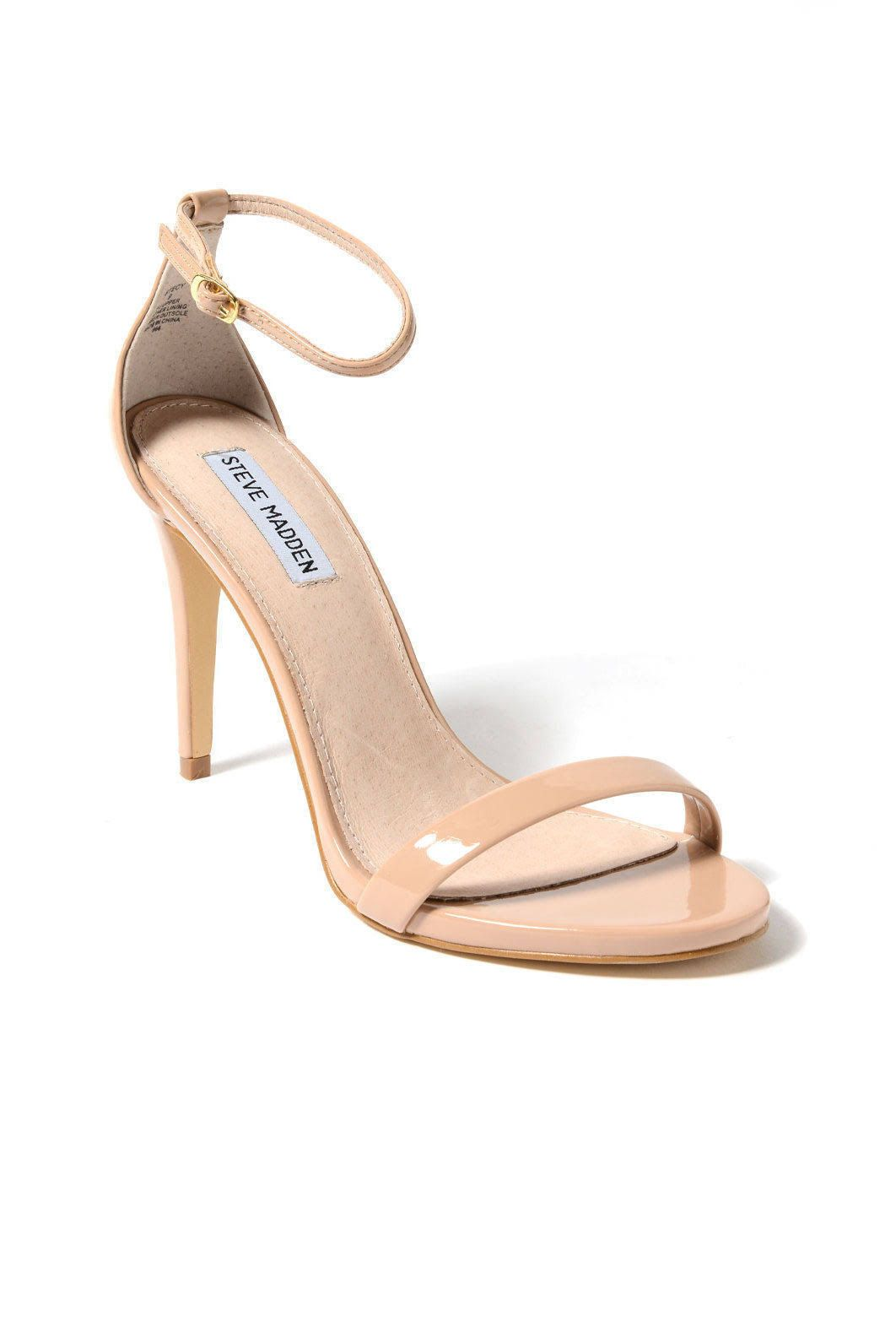 91cb3c2c9c3 nude strappy sandals with small heel - Google Search