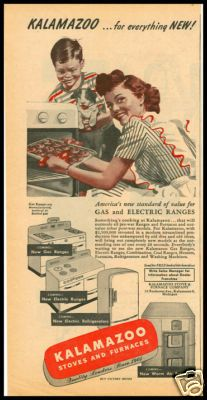 1940s Vintage Ad For Kalamazoo Stoves And Furnaces Ebay Vintage Ads Kalamazoo Vintage