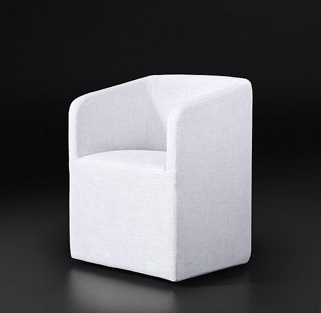 Ellison Barrelback Fabric Armchair Look At Graphite