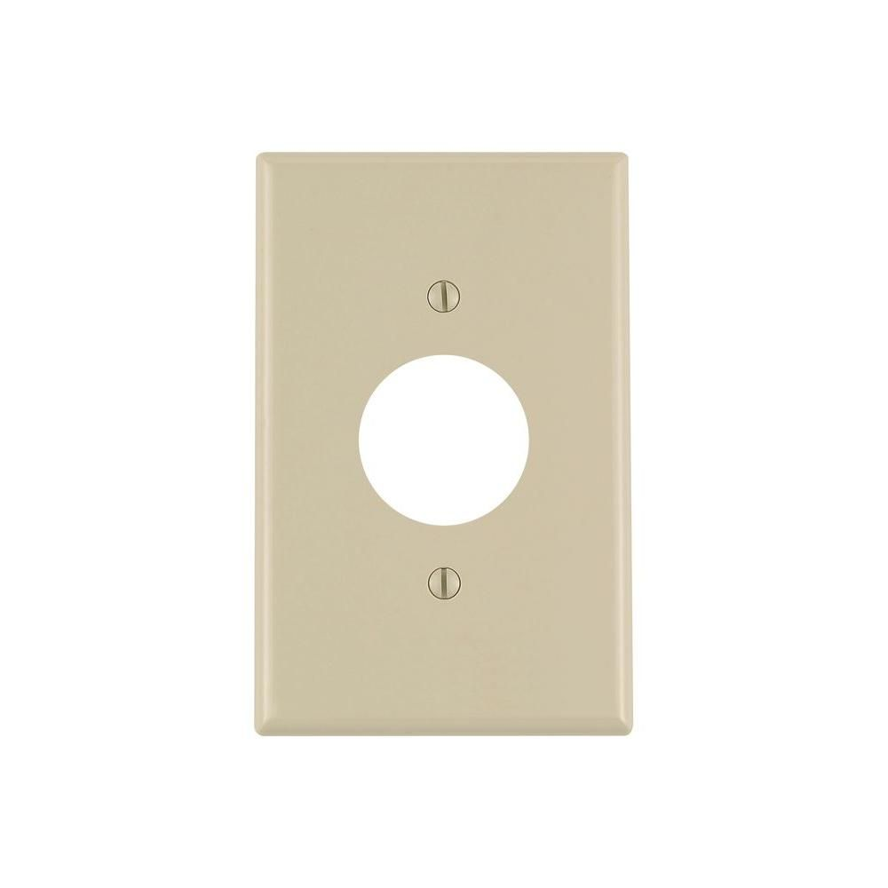Leviton 1 Gang Midway Single Hole Wall Plate Ivory R51 00pj7 00i