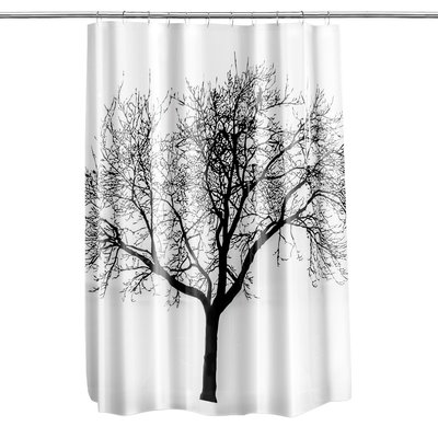 Loon Peak Circletree Tree Of Life Shower Curtain Color Black