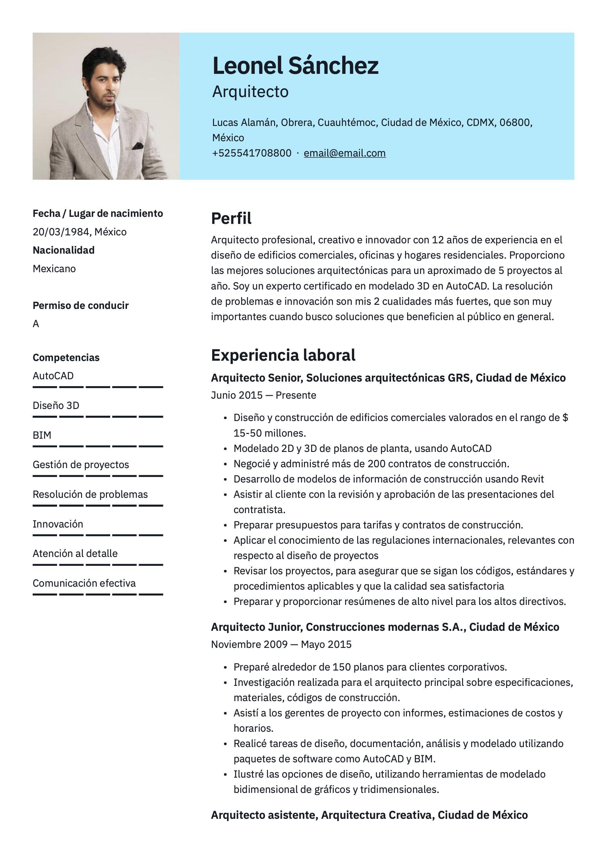 Plantilla De Cv Para Arquitecto Arquitectos Modelos De Curriculum Vitae Diseños De Edificios