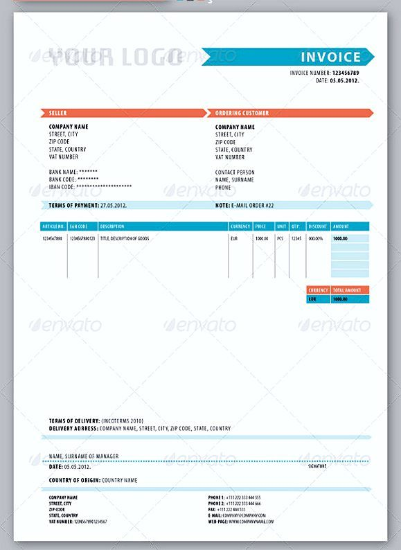 Delivery Invoice Templates  Blank Invoice Template Pdf  Why