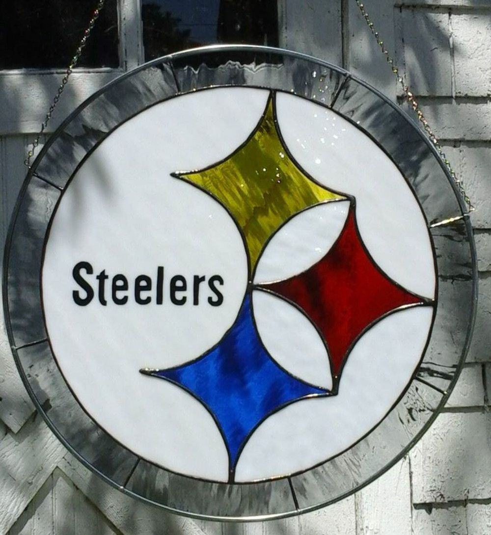 Stained Glass Steelers Logo