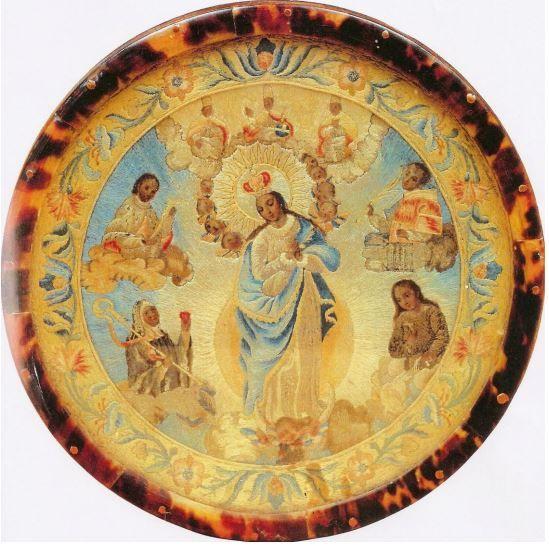 Trabajo novohispano escudo pectoral de monja jer nima con - San carlos textil ...