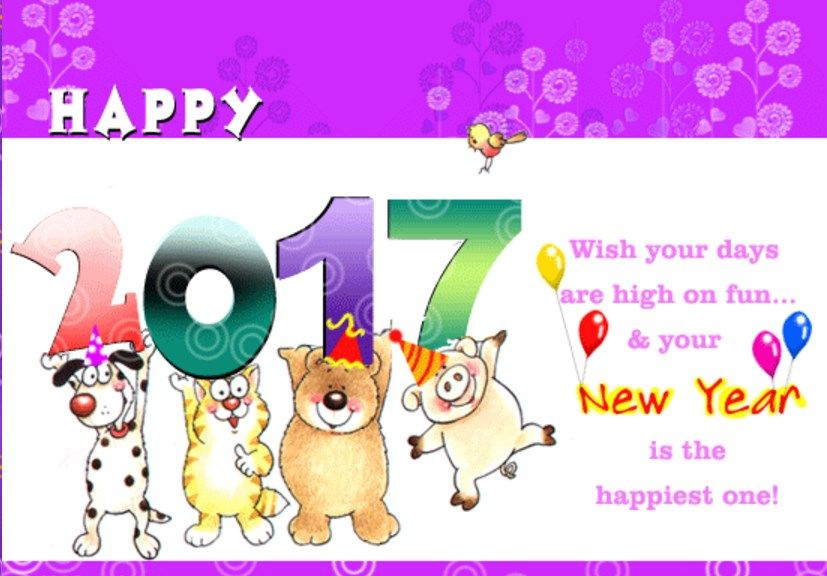 Attractive Fun New Year 2017 Ecards Family Kids