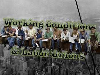 Working Conditions Labor Unions Lecture Powerpoint With Images