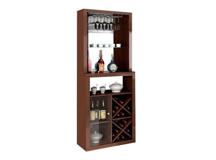 Bar esquinero para 12 copas y 16 botellas for the home for Mueble bar esquinero