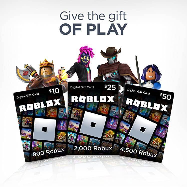 Amazon Com Roblox Roblox Digital Gift Card Roblox Gifts
