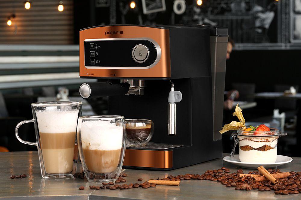 Вид кофемашины для кофейни