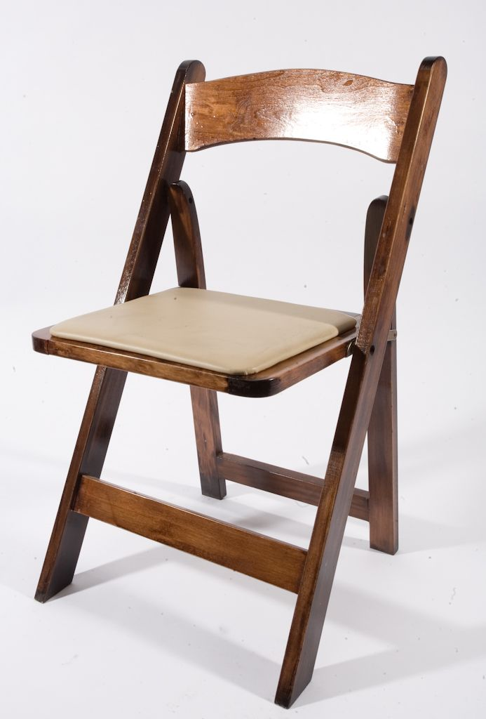 Fruitwood Padded Folding Chair Music City Tents Events Wood
