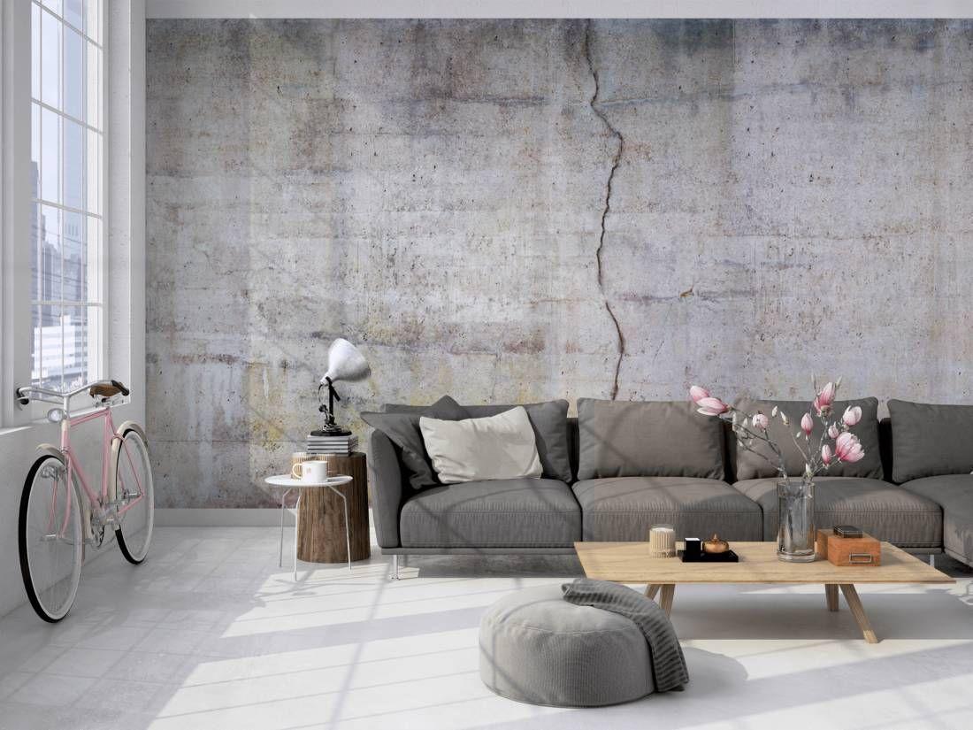 Wohnzimmer Betonoptik ~ Tapete betonoptik holt den alten industriecharme in dein wohnzimmer