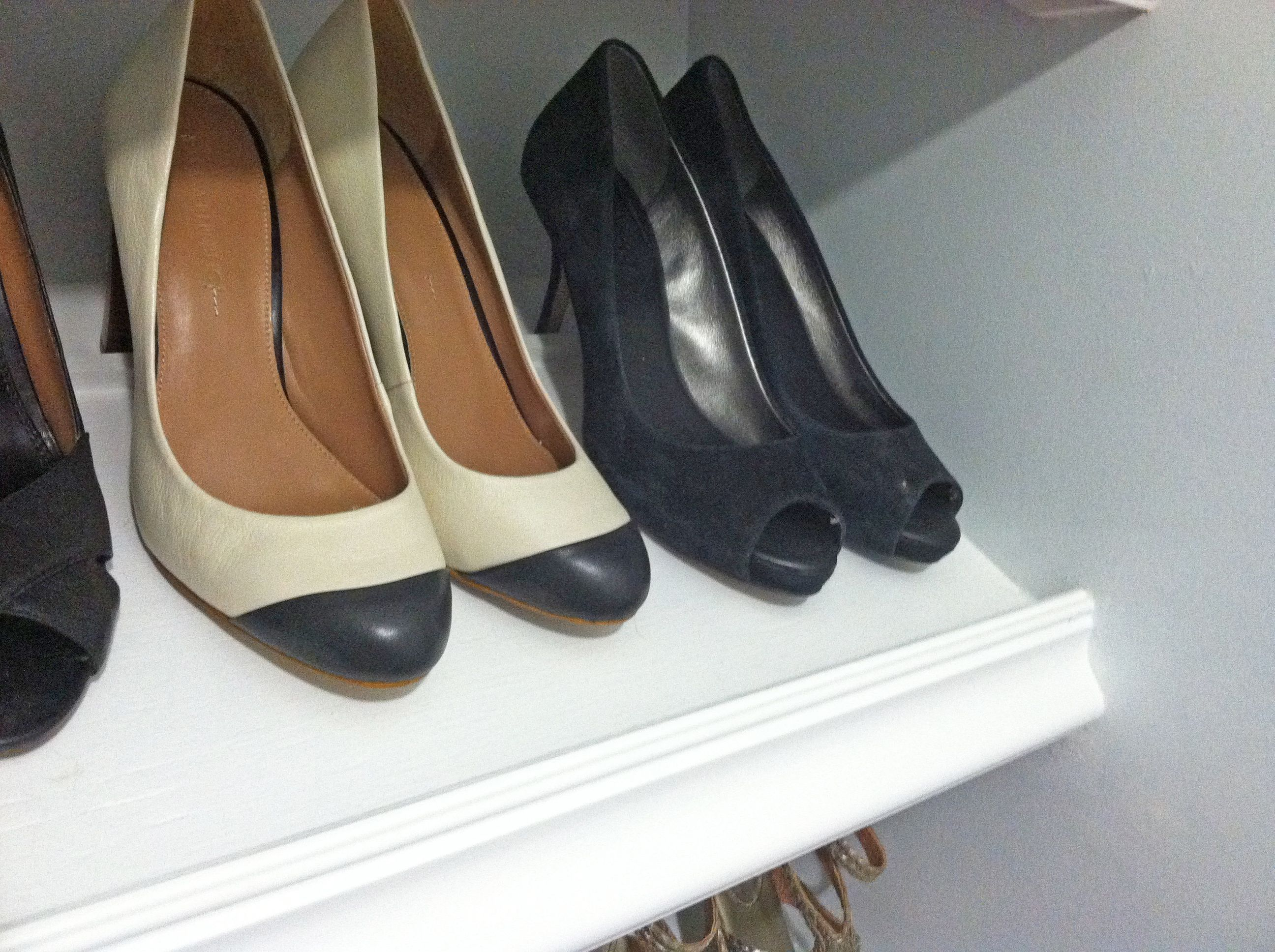 Designer shoe shelves on a budget do it yourself home projects designer shoe shelves on a budget do it yourself home projects from ana white solutioingenieria Gallery