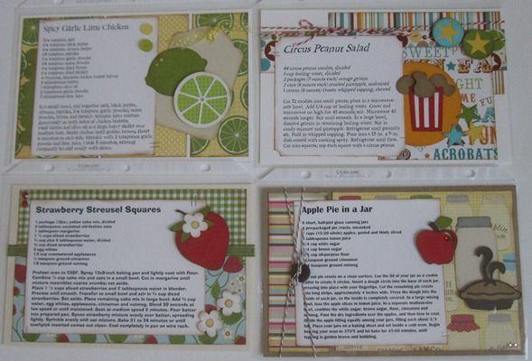 recipe LO possibilities   Recipes...scrapbook   Pinterest   Recipe ...