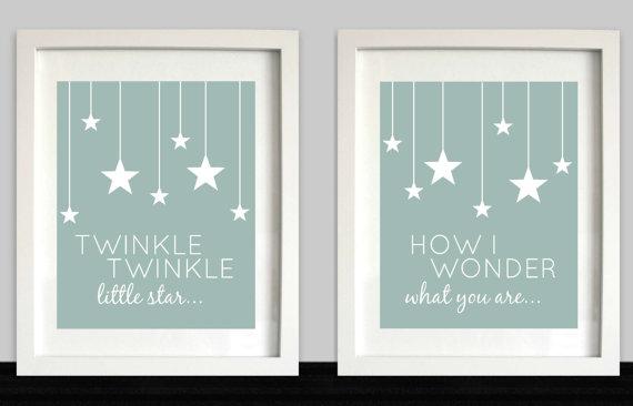Twinkle, Twinkle Little Star // Nursery Wall Art ...