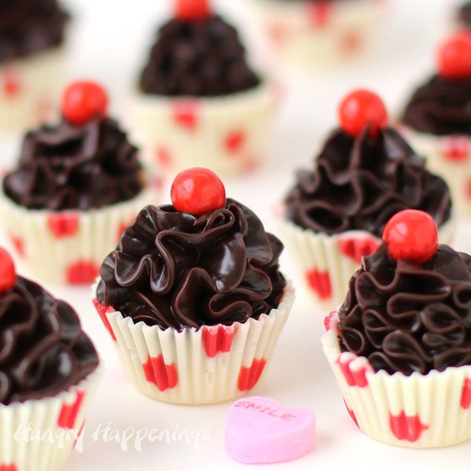 cute little chocolate truffle cupcakes make sweet valentine's day, Ideas