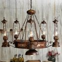 Rustic Lantern & Medallion Chandelier AWESOME!!!