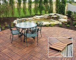 Flexdeck Interlocking Wood Deck Tile Outdoor Flooring Patio