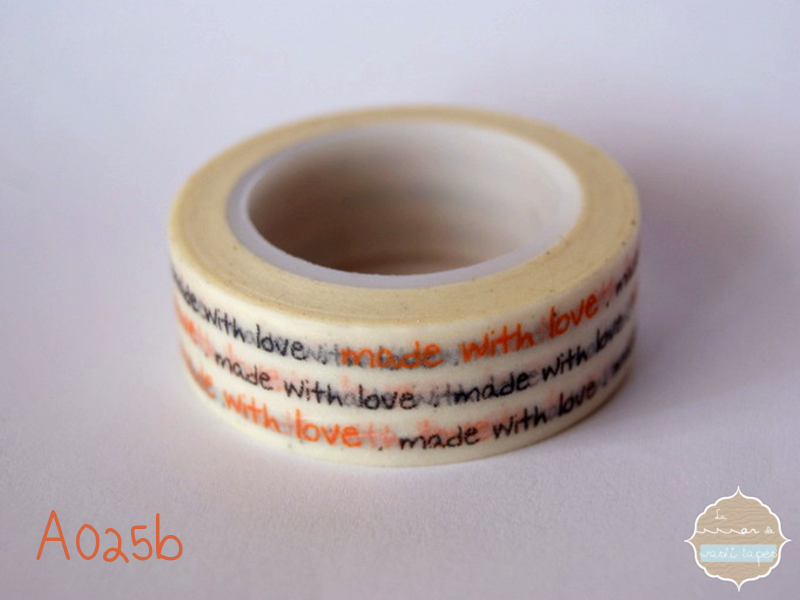 Washi Tape linias made with love