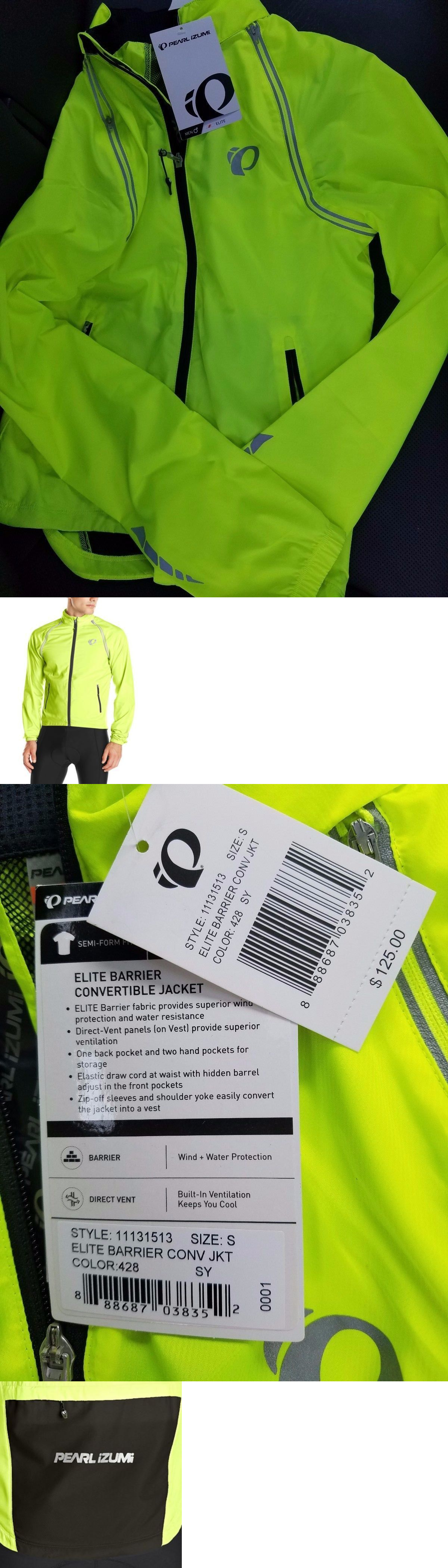 Jackets 36124: New Pearl Izumi Elite Barrier Convertible Men S Cycling Jacket 11131513 Small -> BUY IT NOW ONLY: $78.88 on eBay!