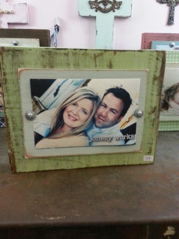 Diy Distressed Block Wood Frame Too Cute My Crafts