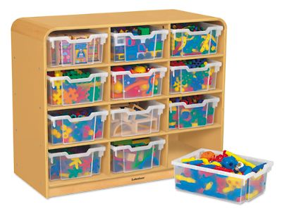 Round Edge Big Bins Storage Unit   12 Cubby At Lakeshore Learning