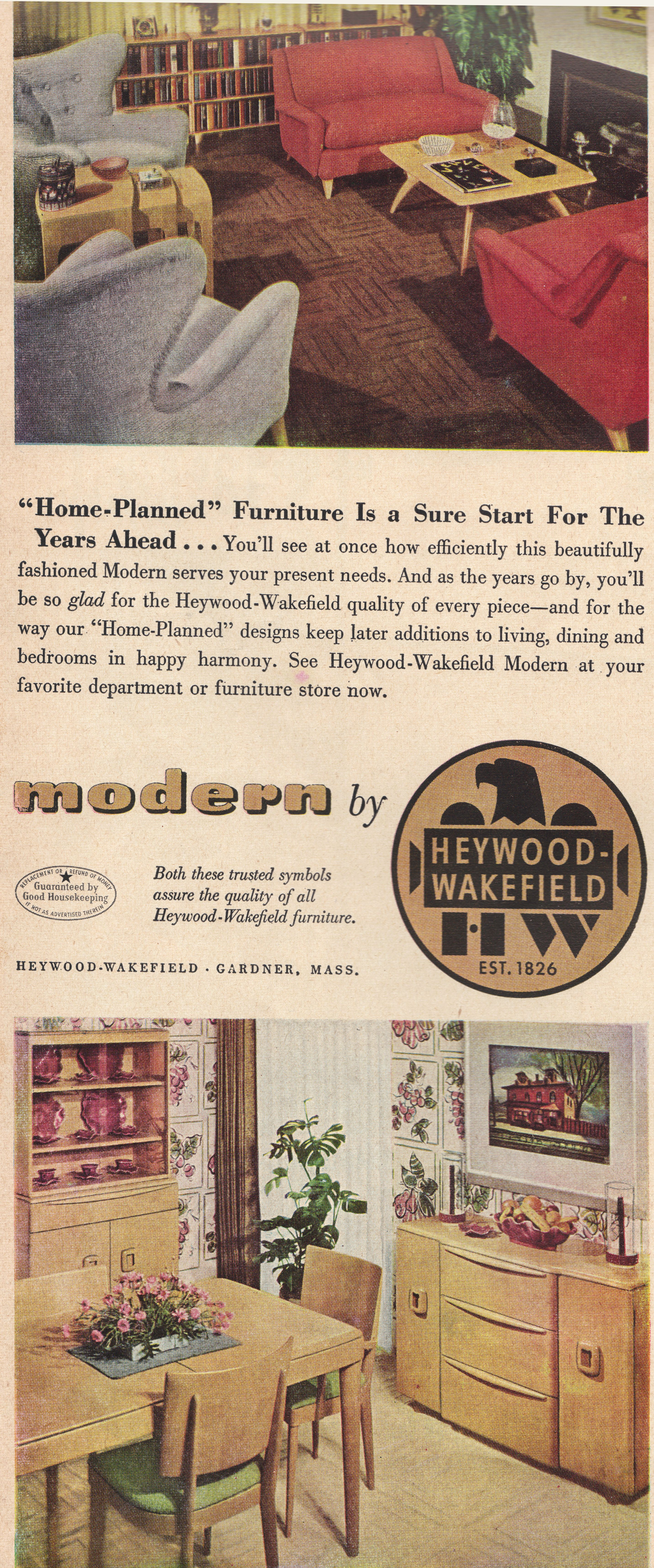 Modern Furniture Ads heywood wakefield furniture ad, fabulous! | vintage ads