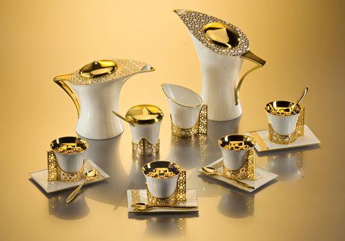 اطقم شاى خرافة لتزيين النيش Luxury Tableware Coffee Tea Coffee Set
