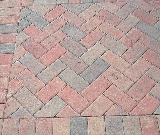 Pavers In A Herringbone Pattern Patio Layout Pavers Brick Patios