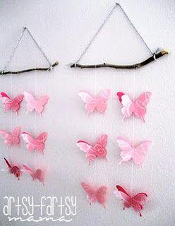 Adorno con mariposas