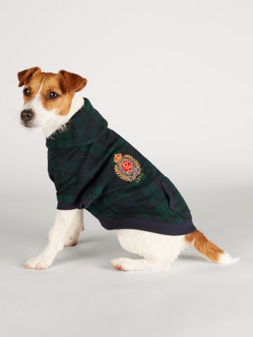tartan fleece dog jacket - ralph lauren pet for the pet