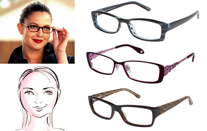 square shaped glasses for round face google search