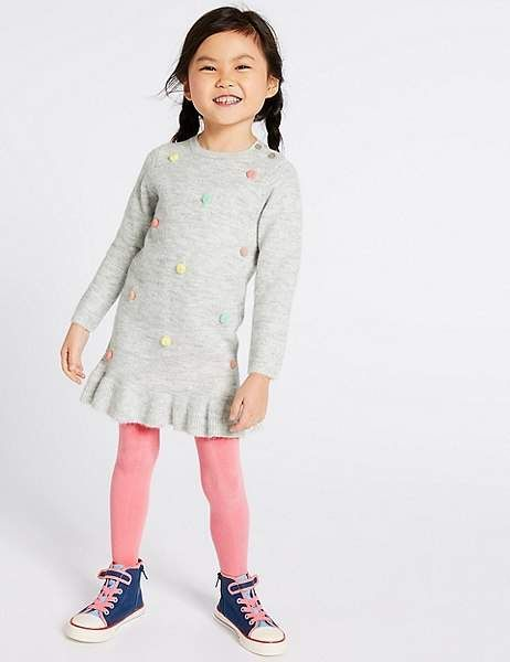 21590004e8 Marks and Spencer 2 Piece Dress with Tights (3 Months - 7 Years)
