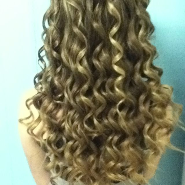 My hair done with a wand!