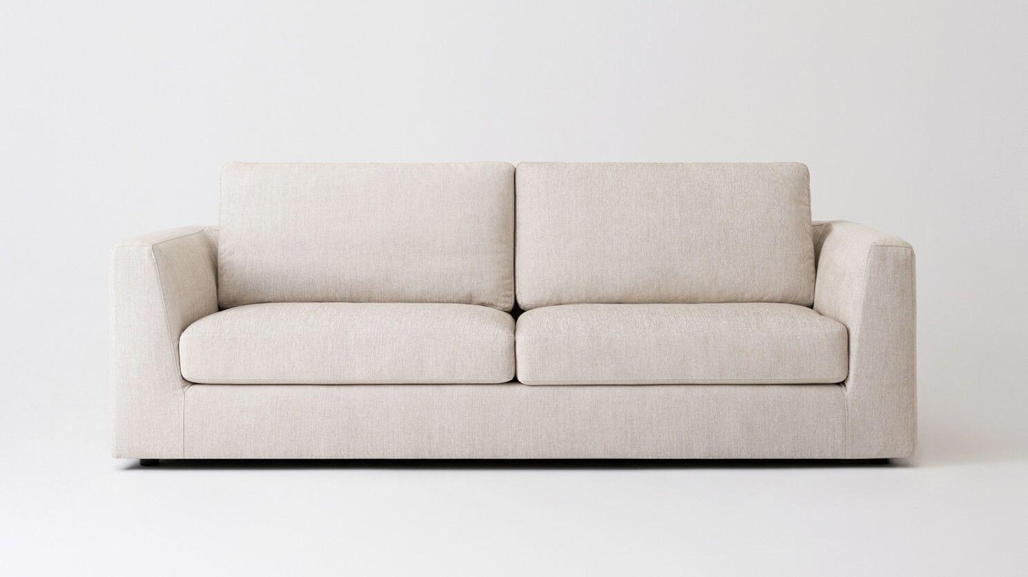 Cello Sofa Memory Foam Seat Cushion Fabric Sofa Mid Century Modern Furniture