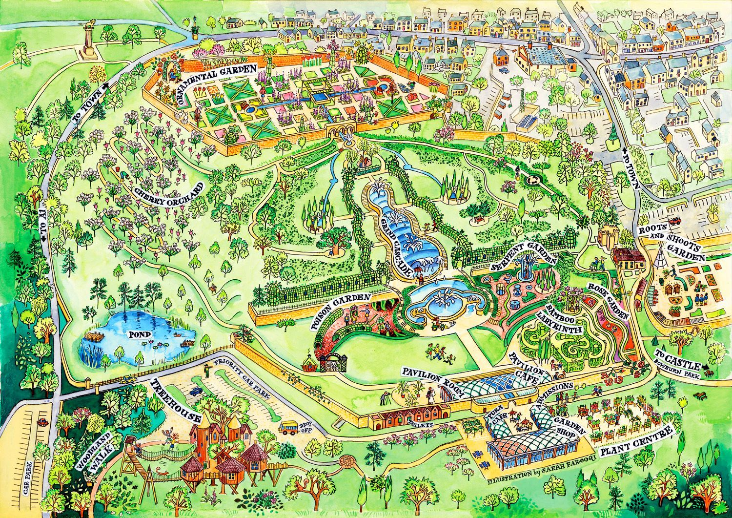 Alnwick Garden Map Maps Of Northumberland Pinterest