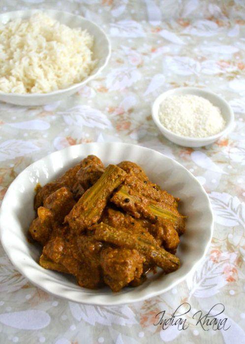 Shevgyachya Bhaji Drumstick Curry Recipe Drumstick Recipes Interesting Food Recipes Curry Recipes