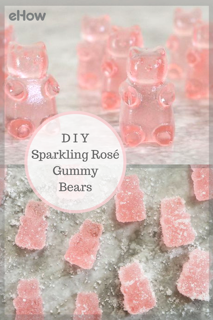 How to Make Sparkling Rose Gummy Bears #bachelorettepartyideas