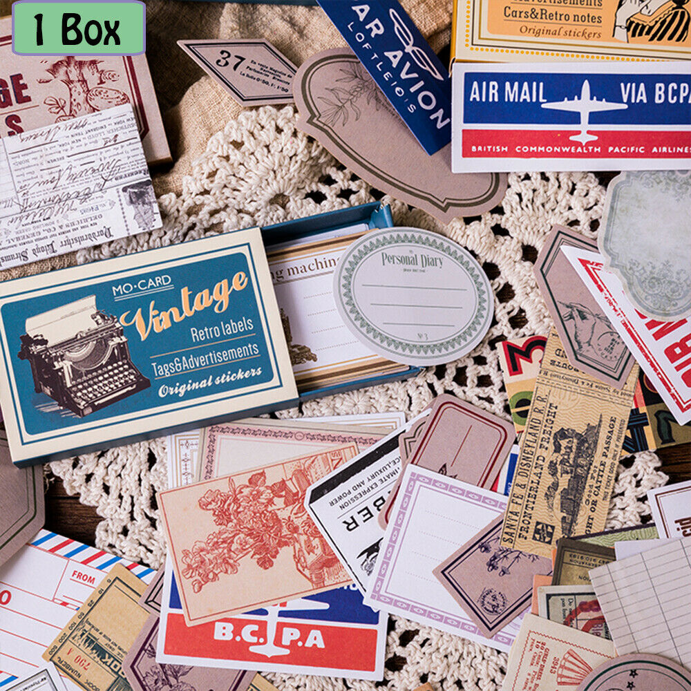 DIY Vintage Picture Diary Calendar Book Paper Sticker Label Scrapbook Decor Gift