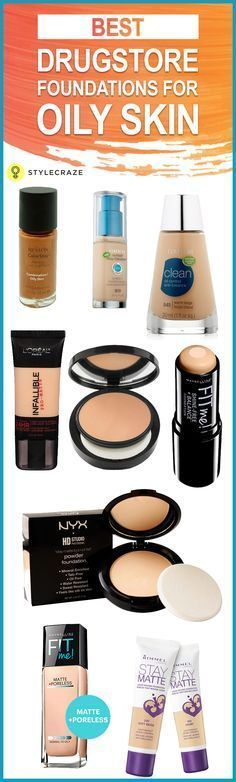 Best Drugstore Foundations (Reviews) For Oily Skin - 2019 Update Oily skin is a huge hassle, and I understand that it can be difficult to find the right makeup product. Everything wears off in a few hours, and your face starts to shine as though you took an oil bath. I've put together some of the best drugstore foundations suitable for oily skin.