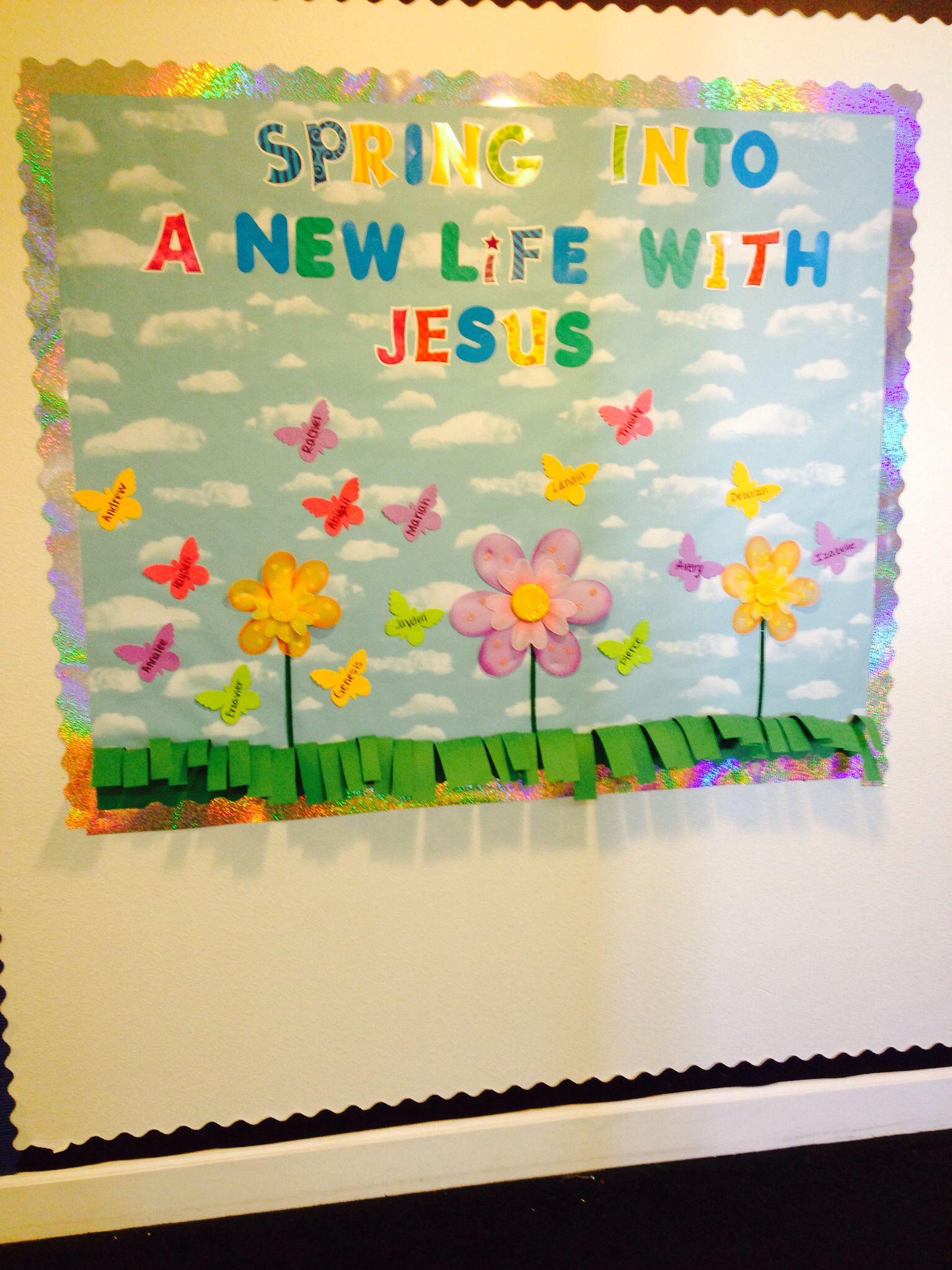 Spring bulletin board | Bulletin Boards:) | Pinterest | Bulletin ...