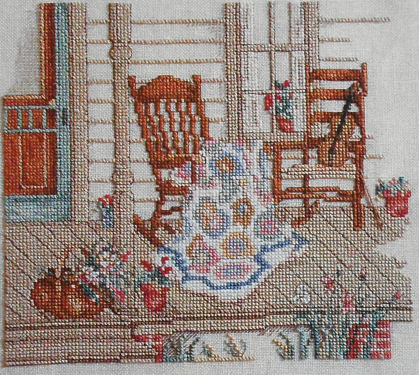 Paula Vaughan Vaughn FIDDLER and the QUILT MAKER - Counted Cross Stitch Pattern Chart - Leisure ...